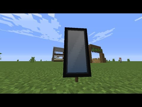 How to make a Mirror in Minecraft! (Banner)