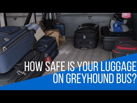 How SAFE is YOUR LUGGAGE on the GREYHOUND BUS?