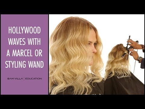 How to create Hollywood Waves with a Marcel Iron or Styling Wand
