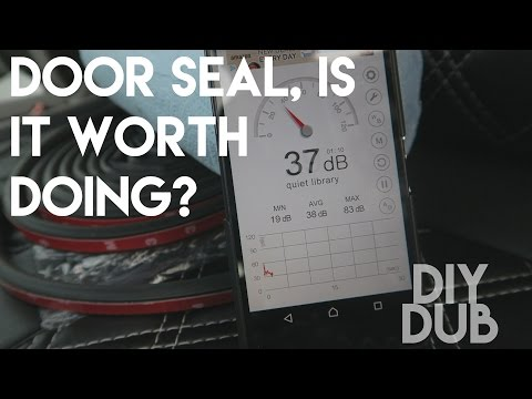 DIYDUB - REDUCE CABIN NOISE -VW T5 Door Seal, is it worth doing?