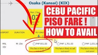 Piso Fare Cebu Pacific Totoo ba? | How to Avail Promo | Japan Ticket 800 Pesos Part2