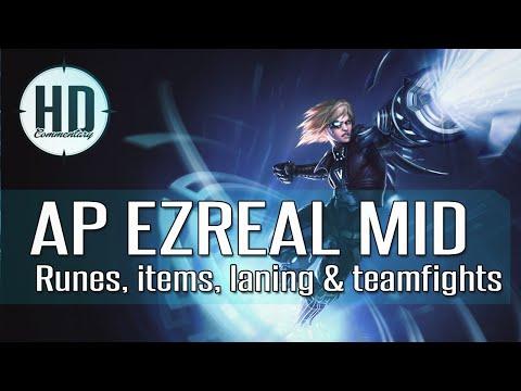 AP Ezreal Mid Guide Season 5 (s5) - Runes, Masteries, Items, Laning & Teamfighting
