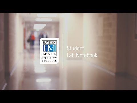 Student Lab Day - Keep Students Organized with Hayden-McNeil Lab Notebooks