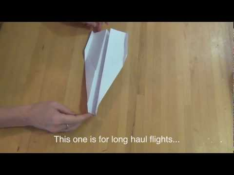 How to make a javelin paper plane