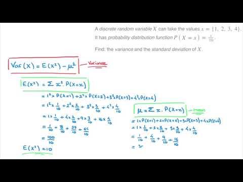 Variance & Standard Deviation of a Discrete Random Variable