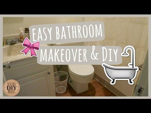 Easy Bathroom Makeover & DIY