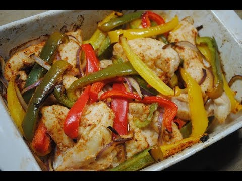 One Dish Chicken Fajitas  |  Student Recipes