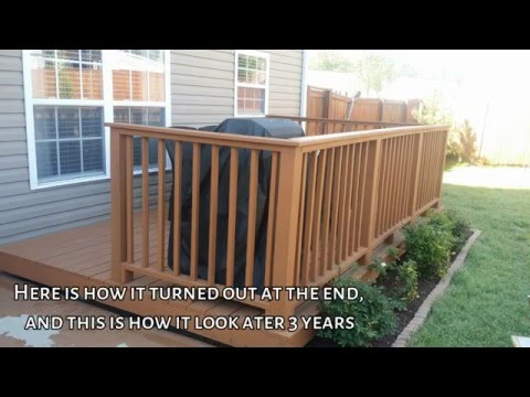 How to build floating deck on concrete blocks DIY