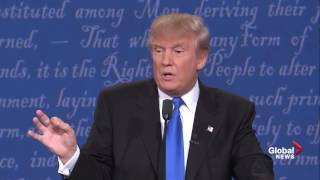 Presidential debate: Trump will release his income tax returns when Clinton releases