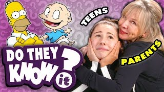Do Teens Know Their Parents' Favorite 90s Cartoon Themes? | React: Do They Know It?