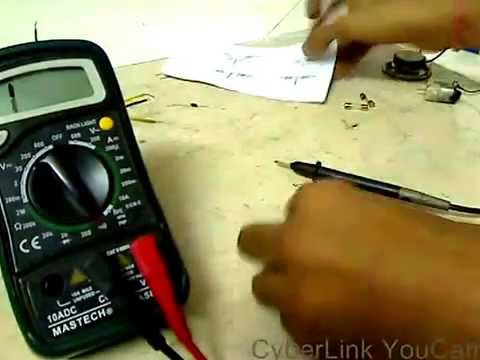 Testing electronic components with a multimeter