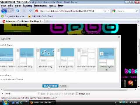 How To Get The Old Bebo Profile Layout Back !!