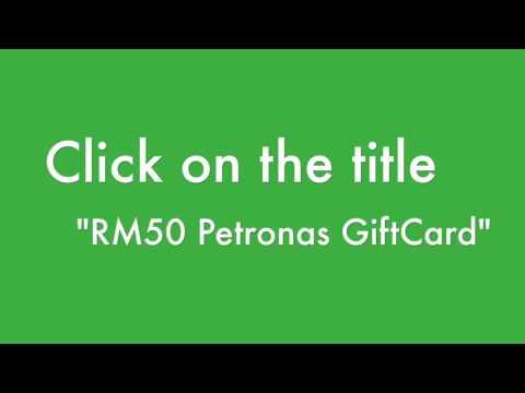 GrabAllStars Petronas Gift Card Redemption Tutorial