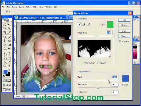 Adobe Photoshop - Replace Color