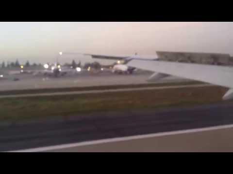 VA1 SYD to LAX, 777-300er Virgin Australia Landing at Ontario, CA 5 Feb 2015