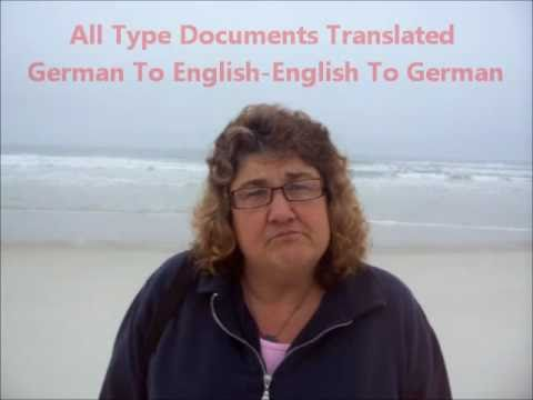 German Translation - Birth Certificate - High School Diploma