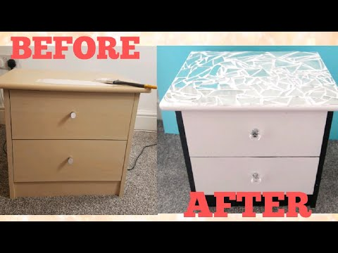 DIY Upcycled bedside table | Bedside table makeover on a budget | recycled Bedside table DIY 2018