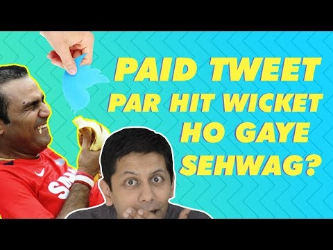 Sehwag hit wicket for a paid tweet? | Bol Bachan Trending