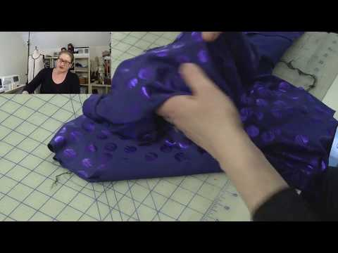 J Stern Designs Live Stream:  Finish the Neckline and Armholes with a Lining Using Your Serger