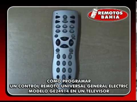 CÓMO PROGRAMAR UN CONTROL REMOTO UNIVERSAL GENERAL ELECTRIC GE24914 PANACOM RM-2415