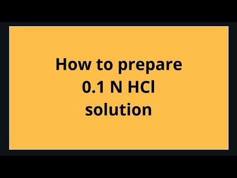 how to prepare 0 1 normal HCl and H2SO4 solution