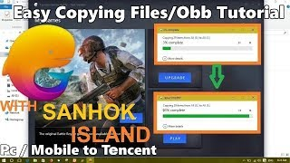 How to Copy Files , Obb From Pc / Mobile To Tencent Emulator