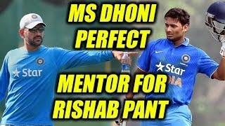 India vs West Indies: MS Dhoni mentors Rishabh Pant | Oneindia News