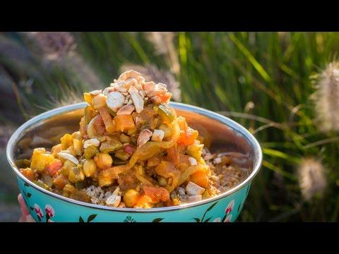 Moroccan Style Vegetable stew | Nutritious vegan recipe | Camper Van cooking