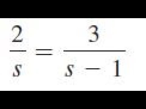 2/s = 3/(s-1), solve the given equations and check the results.
