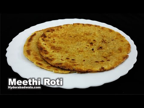 Meethi Roti - Flattened Sugar Bread - Tiffin recipe for School going Children