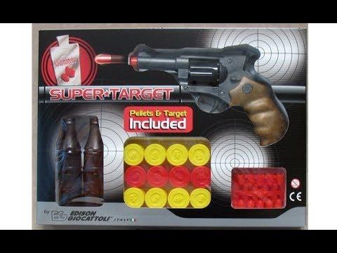 Super Target Edison Giocattoli Italian Toy Gummy Pellet Gun Revolver