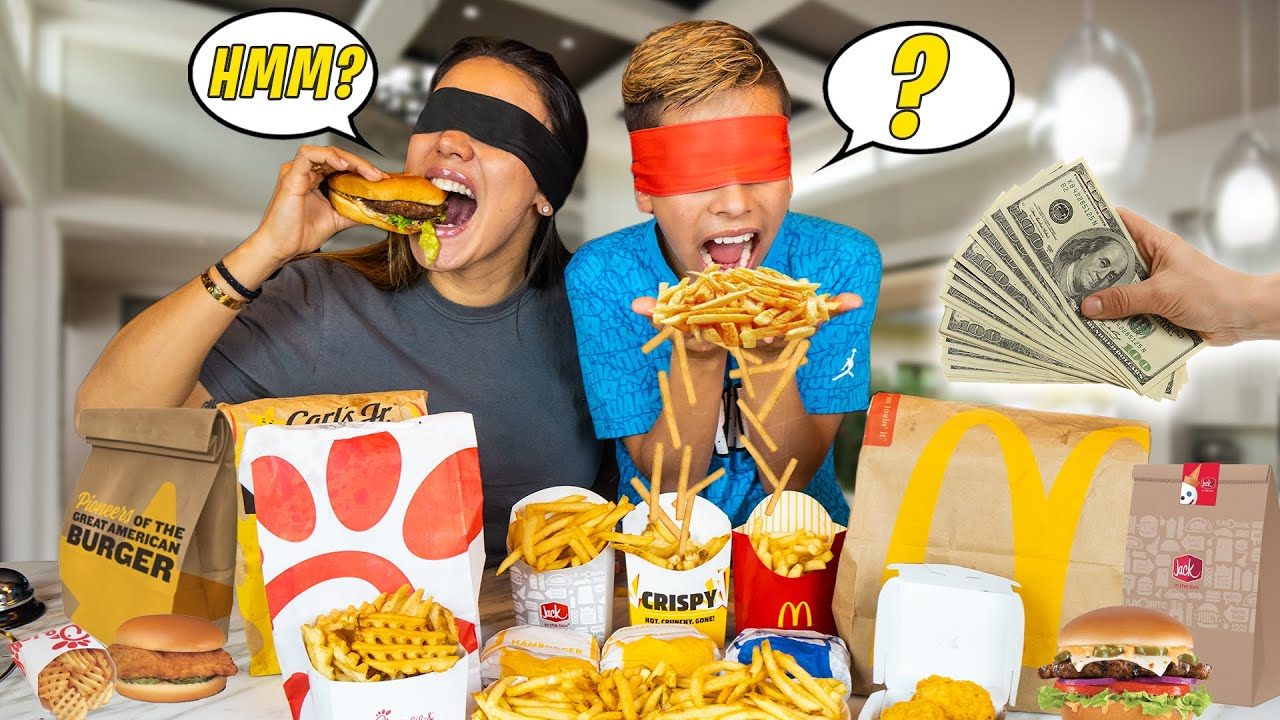 GUESS the FAST FOOD Restaurant and WIN $1,000 Challenge! | The Royalty Family