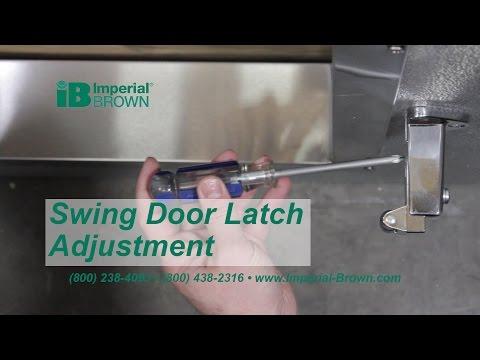 How to Adjust a Walk-in Cooler Swing Door Latch