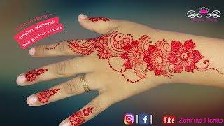 Tutorial Henna Design Mediun Desain Kecil Yang Cantik Bermotif Bunga