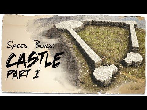 Building a Castle: Part 1 - Uneven Ground   ARK: Survival Evolved   Base Design