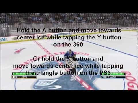 How to Start a Goalie Fight in NHL 12