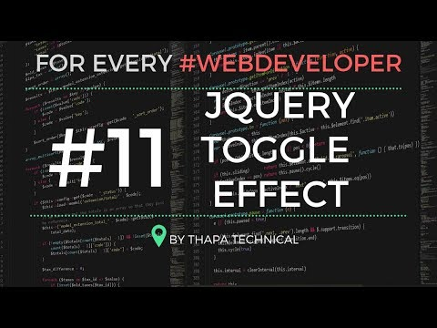 jQuery Tutorial in Hindi #11: jQuery Toggle Effect | Show and Hide in One Click using Toggle