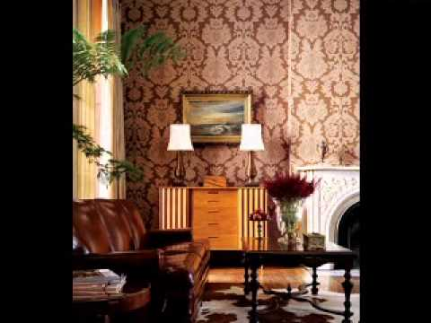 Creative Red wallpaper design ideas for living room