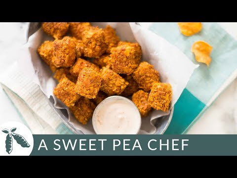 Crispy Baked Sweet Potato Tots with Greek Yogurt Dip (Healthy Side Dish!)