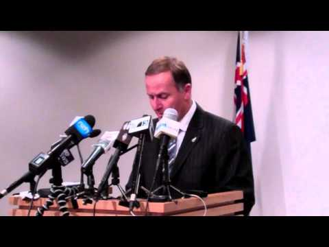 NZ PM John Key Press Conference - 18 July 2011