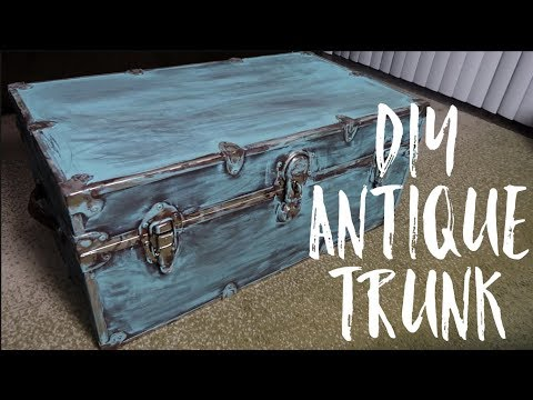 DIY Antique Trunk!