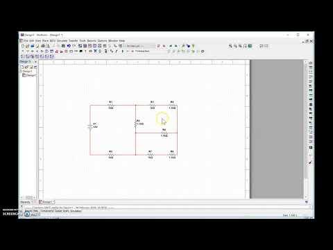 Multisim simulation tutorial: 3 loops DC circuit, mesh analysis [6 minutes]