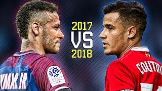 Neymar Jr vs Philippe Coutinho ● Skills Battle | Who's the most skillful? 2017/2018 HD