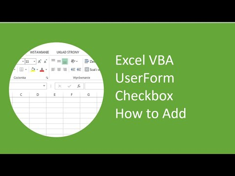 Excel VBA UserForm Checkbox How to Add