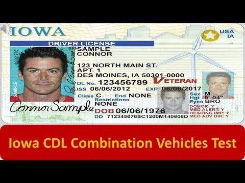 Iowa CDL Combination Vehicles Test
