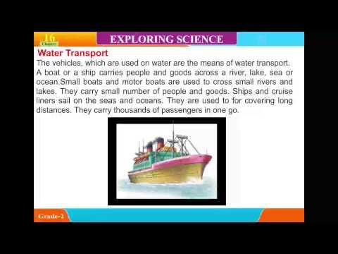 Explore Science ,class 2,Unit 16,Means of Transport