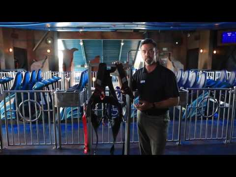 SeaWorld Provides A Special Harness for Handicapped Roller Coaster Riders