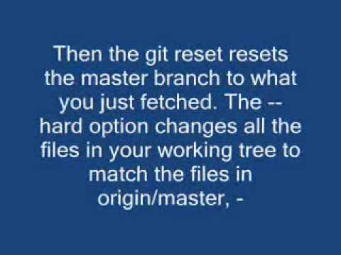 Force Git to overwrite local files on pull