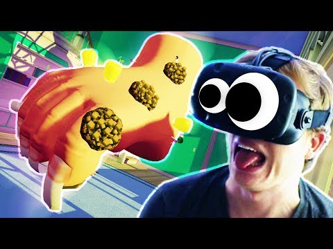 GROSSEST VR GAME EVER!! CLEANING A GIANT FOOT IN VR!!! (Ashi Wash VR HTC Vive)