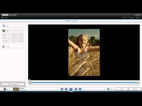 Trim and Rotate Videos in Nero Recode